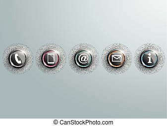 Colored Contact Buttons With Halftone SH