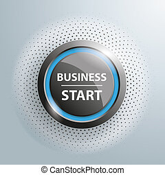 "Button Business Start Halftone - Button with text ""Business..."