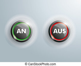 "2 Buttons An Aus - German text ""An Aus"", translate ""On Off"""