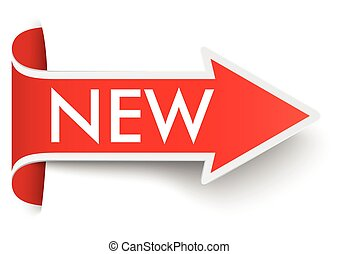 Convert Red Arrow Banner New SH - Red arrow with text New