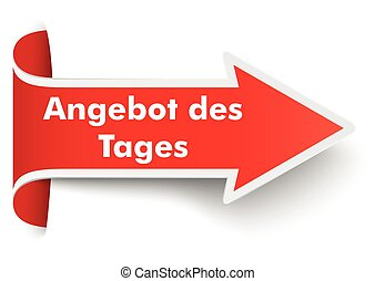 Convert Red Arrow Banner Tagesangebot SH - Red arrow with...