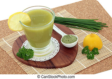 Wheat Grass Health Drink - Wheat grass health drink with...