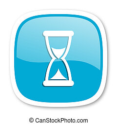 time blue glossy web icon - time blue glossy icon