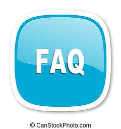 faq blue glossy web icon - faq blue glossy icon