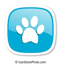 foot blue glossy web icon - foot blue glossy icon