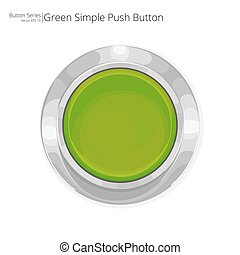 Green Push Button. - Simple green push button. Vector EPS10.