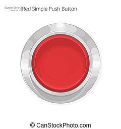 Red Push Button. - Simple red push button. Vector EPS10.