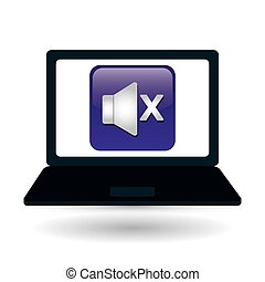 Technology design. social media icon. laptop concept