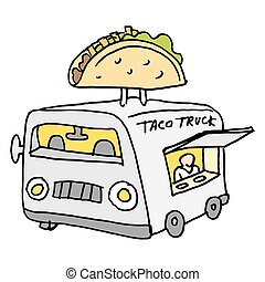 Mexican taco food truck - An image of a Mexican taco food...