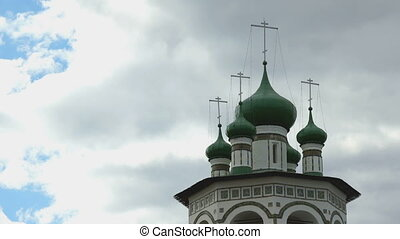 Orthodox monastery on the background of blue sky
