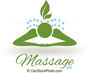 Massage spa logo icon vector design