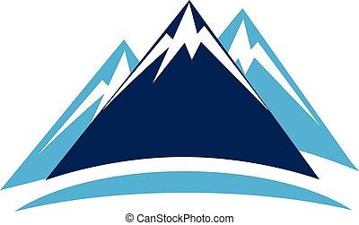 Blue mountains logo icon vector image