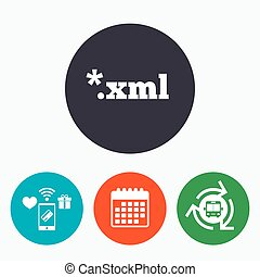 File document icon Download XML button XML file extension...