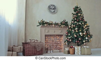 Fireplace with Christmas-tree