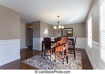 Home Dining Room Interior - Beautiful staged dining room in...