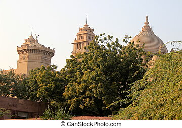 Domes of Umaid Bhavan - Stone domes of Umaid Bhavan Palace...