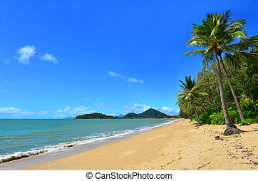 Landscape of Clifton beach near Cairns Queensland Australia...
