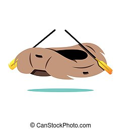 Vector Rafting Boat Cartoon Illustration - Illustration of...