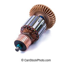 cobre, rollos, dentro, eléctrico, Motor, ,