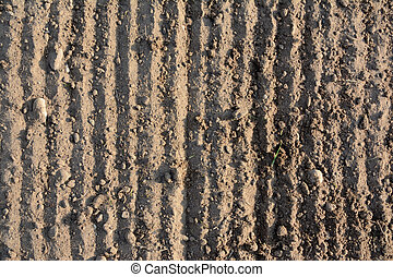 Loosened soil texture - background