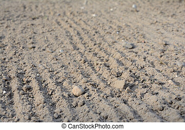 Loosened soil texture - Photo of loosened soil with blurred...