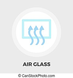 Rear window defrost flat icon - Rear window defrost icon...