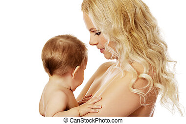 Young mother with her adorable baby