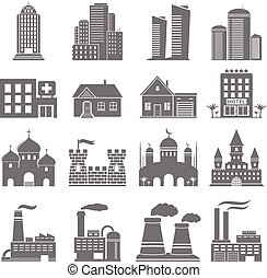Various building icons