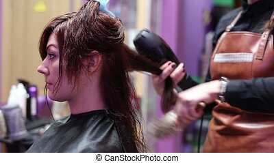Creating Hairstyles in Beauty Salon