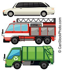Three kind of transportations illustration