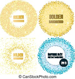 set of 4 golden abstract backgrounds