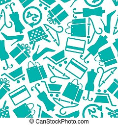 Fashion and shopping seamless background pattern