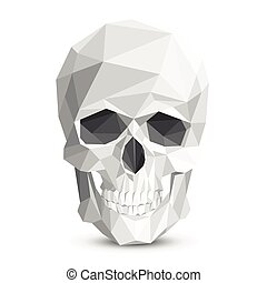 Colorful geometric low poly skull Vector triangular skull...