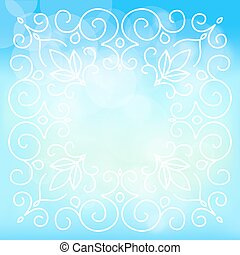 sky background with floral ornaments
