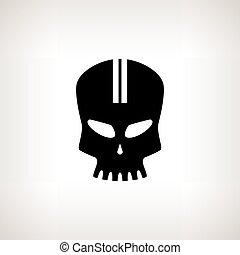 Sport Moto Speed Skull, Isolated - Sport Moto Speed Skull,...