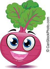 Beets Mascot - Vector Illustration of Beets Mascot