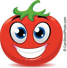 Tomato Mascot - Vector Illustration of Tomato Mascot