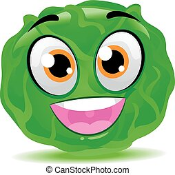 Cabbage Mascot - Vector Illustration of Cabbage Mascot