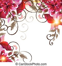 Abstract floral bckground for designeps - Vector floral...