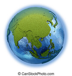Southeast Asia on planet Earth - Southeast Asia on 3D model...