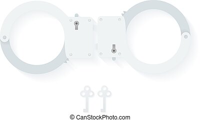 BDSM handcuffs, bondage element to immobilize partner. Sex...