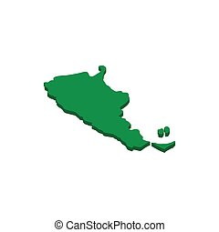 Map of Argentina icon, isometric 3d style - Map of Argentina...