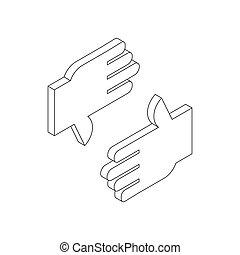 Finger frame icon, isometric 3d style - Finger frame icon in...