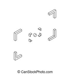 Camera viewfinder icon, isometric 3d style - Camera...