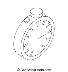 Stopwatch icon, isometric 3d style - Stopwatch icon in...