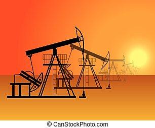 Oil production in the desert