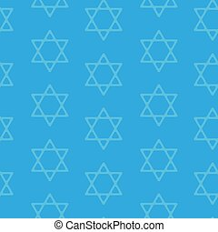 David star seamless pattern background Blue background...