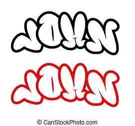 the name John in graffiti style
