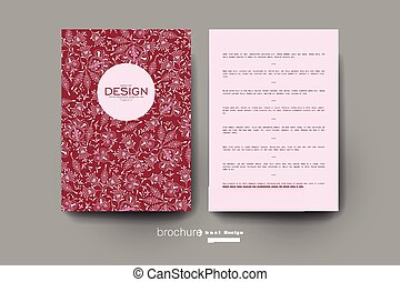 floral ornament vector brochure template. Flyer Layout....
