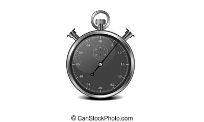 Black Stopwatch - animation of two arrows on a stopwatch...